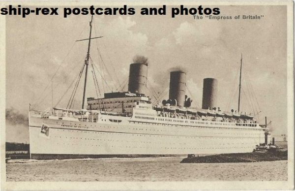 EMPRESS OF BRITAIN (1931, Canadian Pacific) postcard (a)